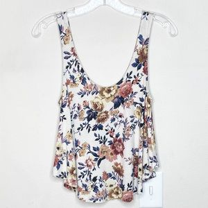 American Eagle Soft & Sexy Floral Tank Top Small
